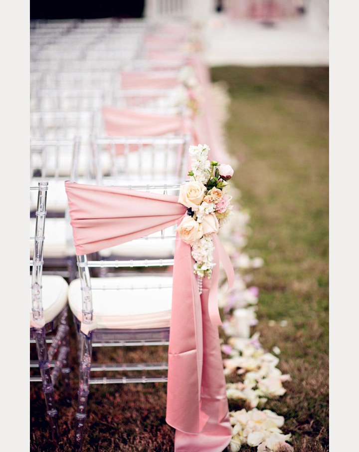 12 Beautifully Draped Fabric, Wedding Chair Ideas