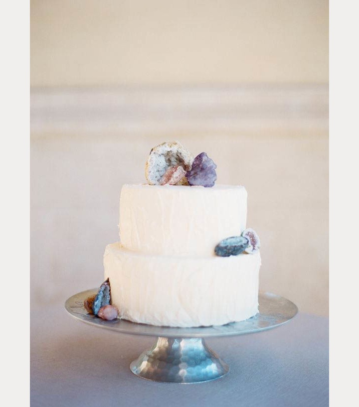 geode wedding decor