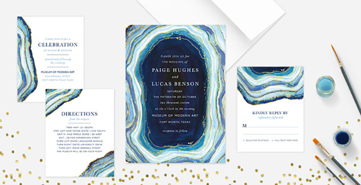 agate wedding invitations