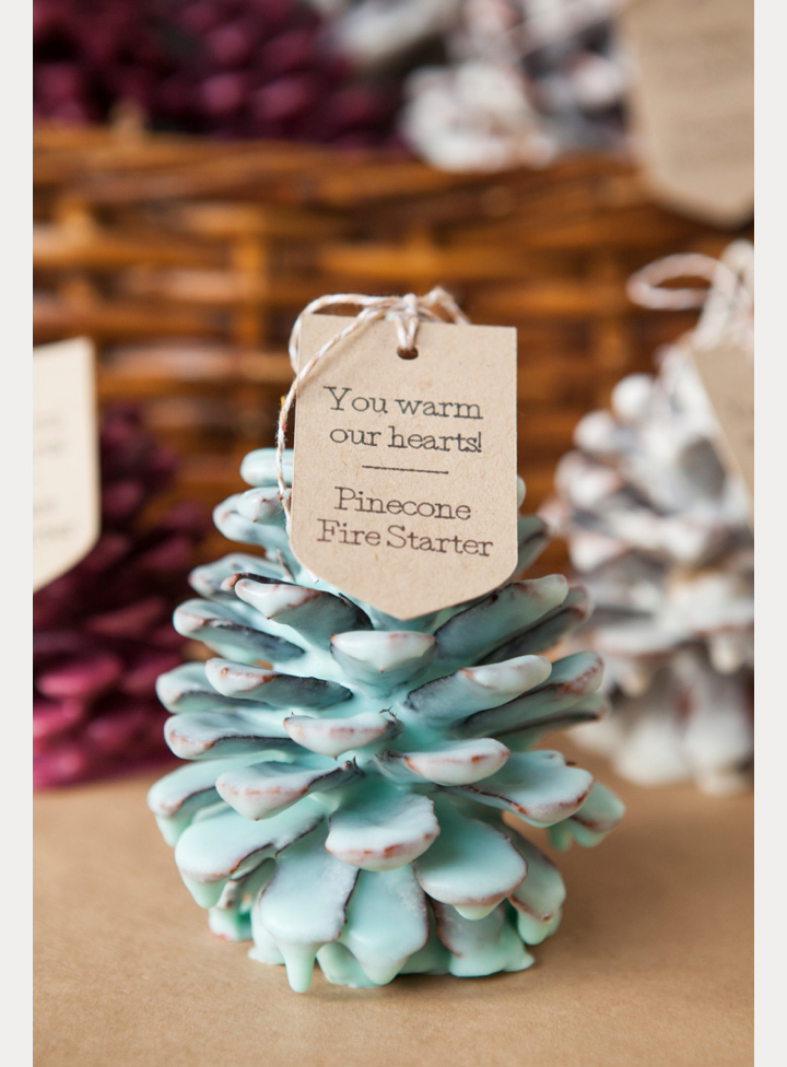 DIY Pinecone Fire Starter Wedding Favors ~ we ❤ this! moncheribridals.com