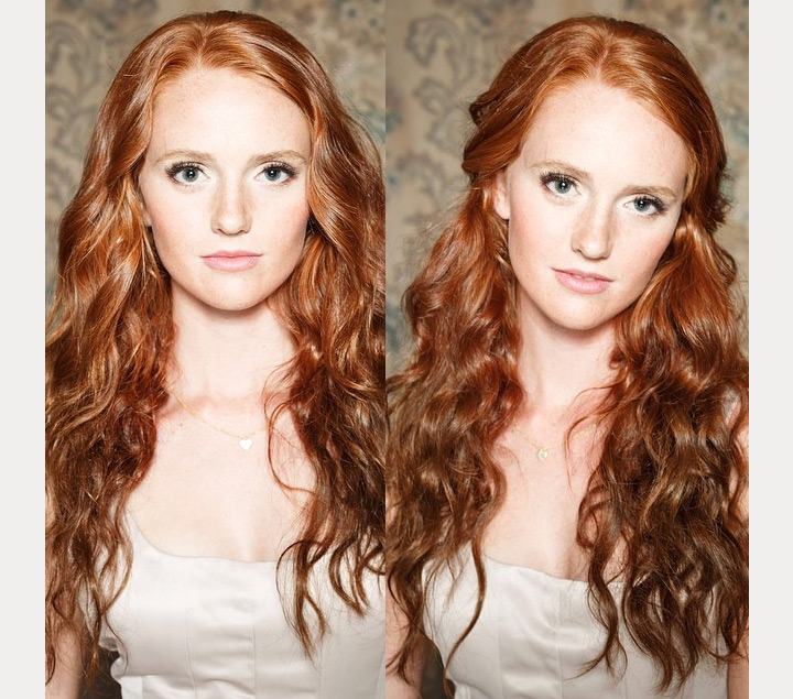 natural wedding makeup for redheads ~ we ❤ this! moncheribridals.com