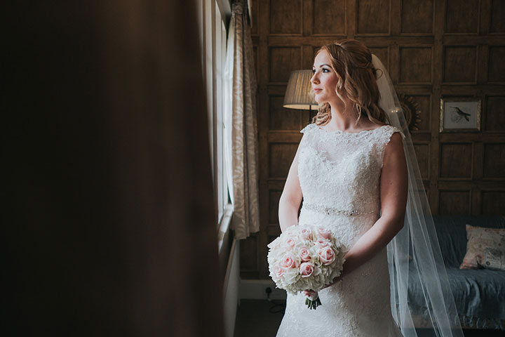 Silver, Pale Pink & White Palette Creates A Winter Sparkle Theme For This English Wedding