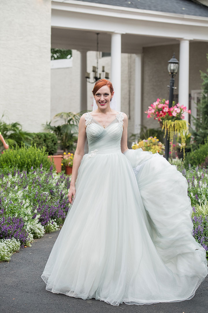 "Misty Gray ""Nightingale"" By Sophia Tolli Is Perfection On This Bride"