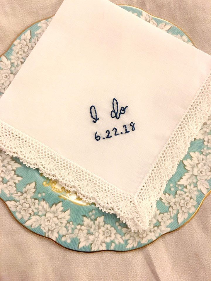 Hook and Hoop's Vintage Inspired Hankies For The Bride
