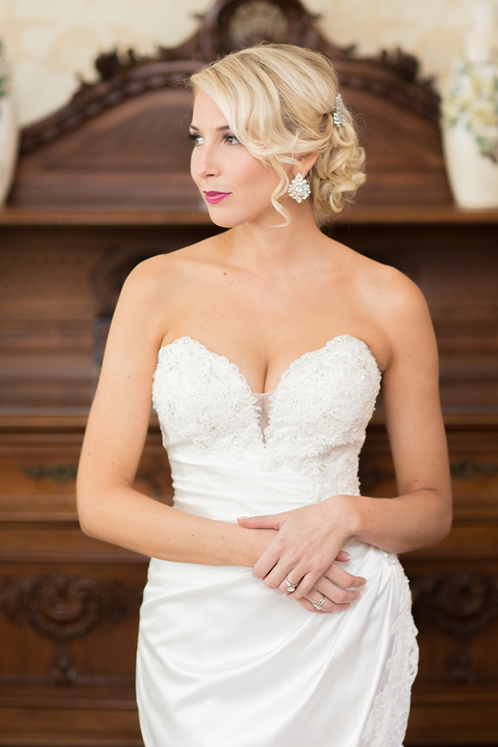 "Sexy Bride With Classic Updo Is Stunning in Sophia Tolli ""Morrigan"""