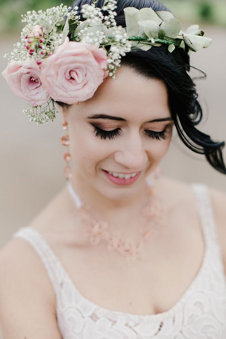 Double Rose Floral Crown for the Bridesmaids