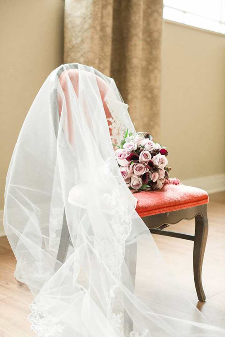 "Stunning Bride Wears Asymmetrically Draped Sophia Tolli ""Nebula"""