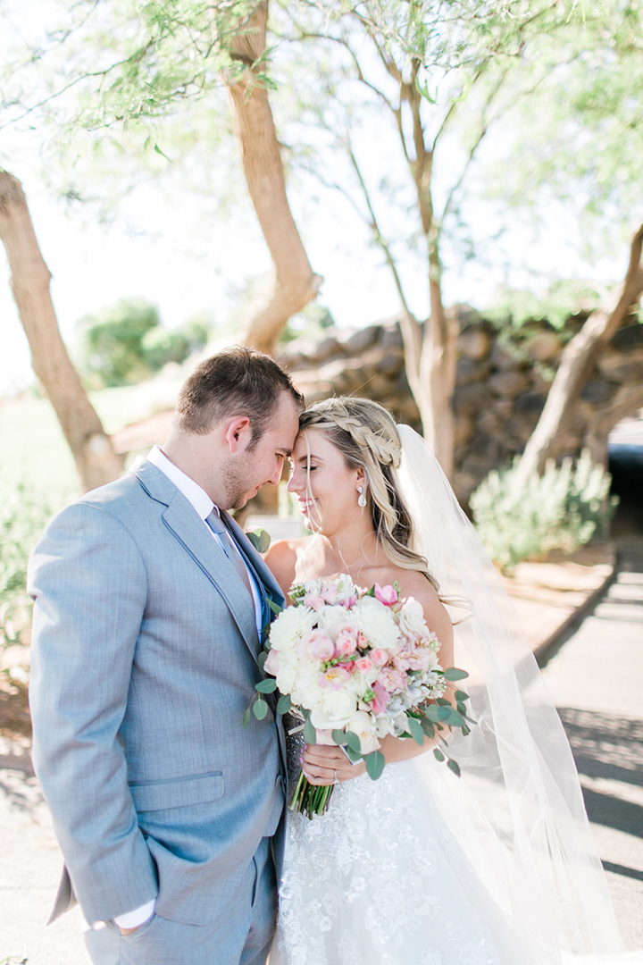 "Gorgeous Bride Wears Sophia Tolli ""Orion"" For Her Blustery June Wedding"