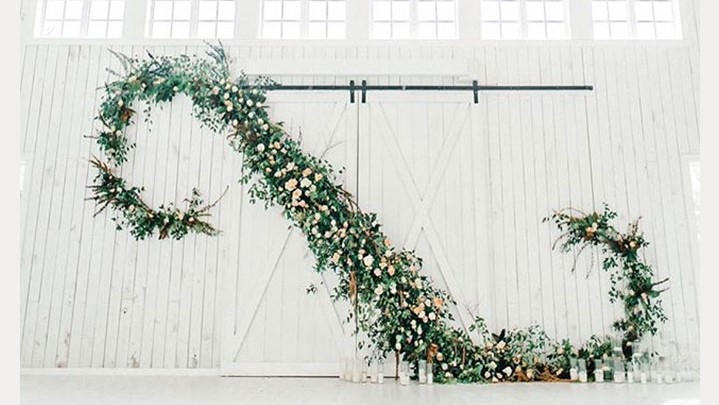 Epic Ceremony Backdrop By Details Dallas Floral & Events