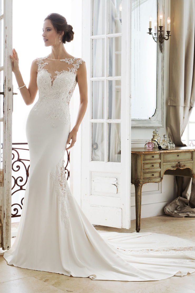 Stunning Illusion Lace Back Wedding Gown Ixion