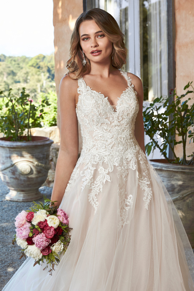 Sparkle Tulle Ballgown with Window Lace Back Stephanie