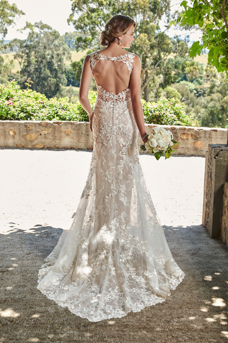 Elegant Bohemian Fit and Glare Gown Ariella