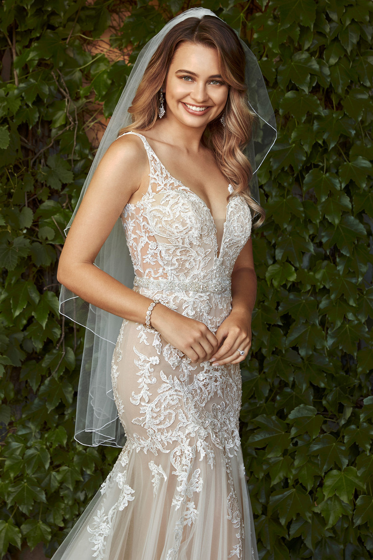 Sexy Beaded Lace and Tulle Wedding Gown Phoebe