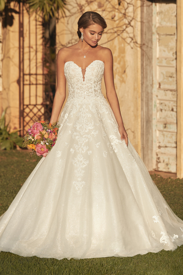Modern Princess Ballgown with Whimsical Lace Alessandra