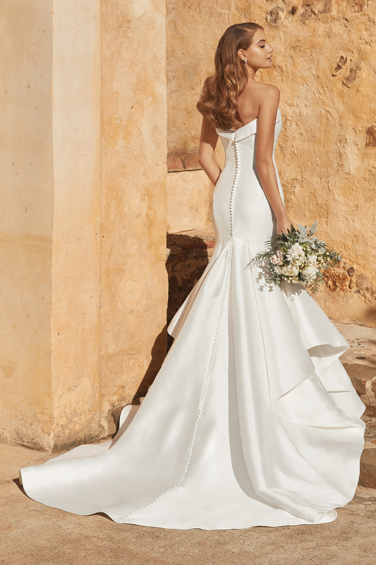 Modern Elegant Mikado Wedding Dress Gisele