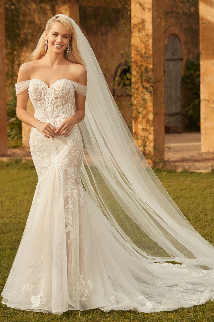 Ethereal Off the Shoulder Lace Wedding Gown Clarissa