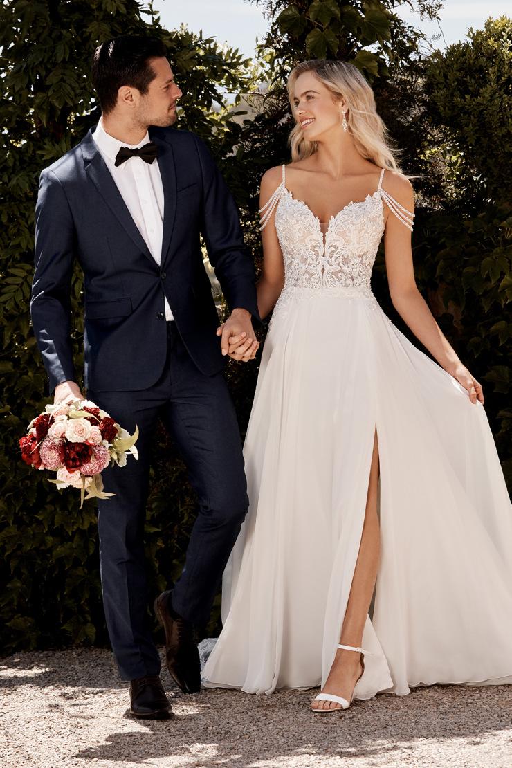 Casual Beach Wedding Dress with Side Slit   Sophia Tolli