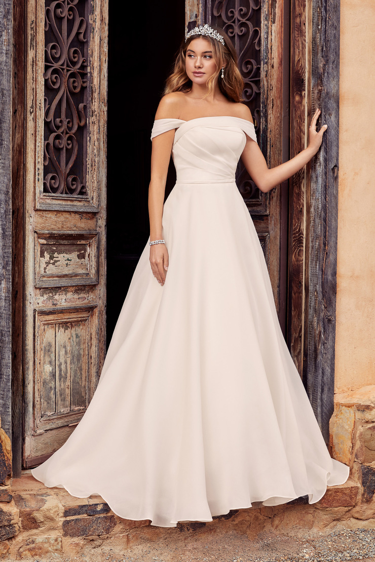 Unique Luxe Organza A-Line Wedding Dress Meika