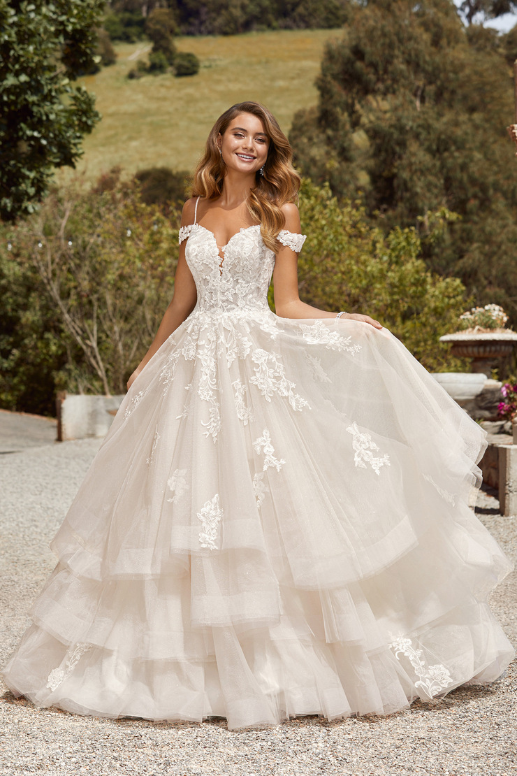 Floral Princess Gown with Dreamy Shimmer Maddie